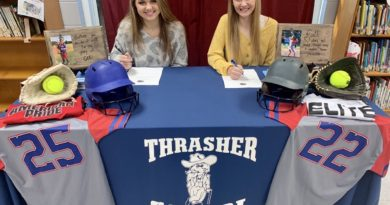 Thrasher softball players have signing ceremony for commitment to NEMCC